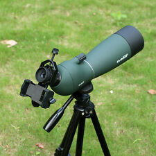 Waterproof Angled 25-75x70mm Zoom Spotting Scope with Cell Phone Mount Adapter