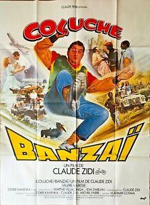 Affiche Cinéma BANZAÏ 120x160cm Poster / Coluche / Claude Zidi