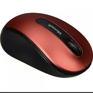 Microsoft Mobile 4000 Wireless BlueTrack Mouse With Bank Transceiver Ruby Red