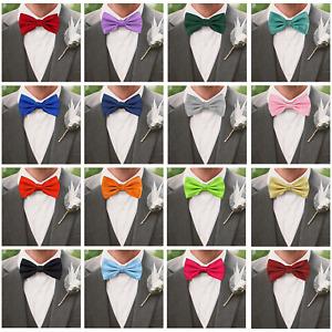 Bow Tie Mens Wedding Prom Party Pre-Tied Adjustable Dickie Bow Neck Tie Tuxedo