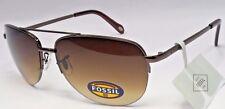 FOSSIL FW5 Women's Brown Frame Brown Lens Aviator Sunglasses 3523571601 NEW