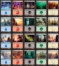 *MRM* FR/ENG 500 Terrains de base Basic land 100 each color MTG pack