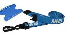 NHS Premium Soft Neck Breakaway Lanyard & NHS Blue Single Sided Card Holder