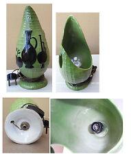 Vintage Italian lamp / abat-jour pottery ceramic; design Italy 1950-60
