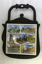 Trivet Montreal Canada Ceramic Tile Cast Iron Tea Pot Kettle Hot Plate Vintage