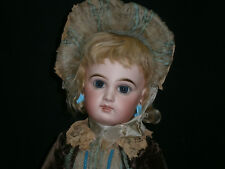 """20""""(52Cm)Greatest French Antique Bebe Jumeau Doll Size9-Blue Eyed/Mark Shoes A/0"""