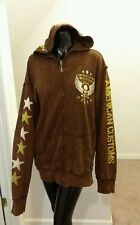 Affliction Mens Hoodie Jacket Rare American Customs Motor Club Size Large