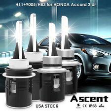 Cree H11 9005 LED Headlight Kits Bulbs H/L Beam For Honda Accord 2 dr. 2012-2008