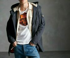 Brand New Superdry Mens Winter Aviator Parka Jacket Size:XS