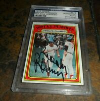 1972 TOPPS AL PLAYOFFS #222 BROOKS ROBINSON PSA/DNA AUTOGRAPH BALTIMORE ORIOLES