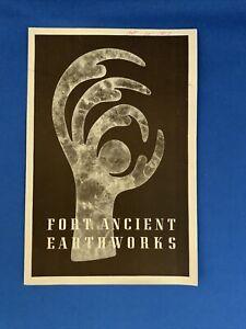 Fort Ancient Earthworks Vintage Brochure