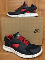 RARE�� Nike Huarache Free Run 2012 Obsidian Blue Action Red Pink S 9 487654-400
