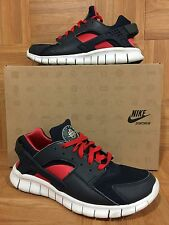 RARE🔥 Nike Huarache Free Run 2012 Obsidian Blue Action Red Pink S 9 487654-400