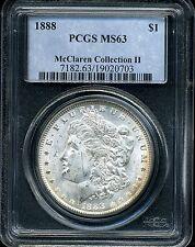 1888 $1 Morgan Silver Dollar MS63 PCGS 19020703 McClaren Collection II