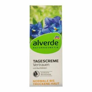 Alverde Organic Natural Day Cream  Normal to Dry Skin with Bach Flowers 50 ml