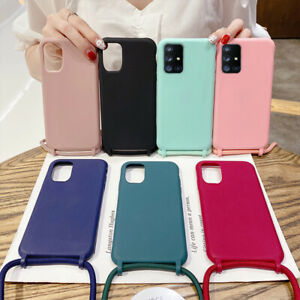 Case For Samsung Galaxy S21 Ultra S20 FE A72 A52 A32 A51 Lanyard Silicone Cover