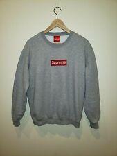 SUPREME: Box-logo Sweater- GREY LARGE