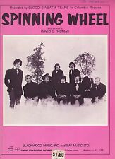 Blood, Sweat And Tears Spinning Wheel   US Sheet Music