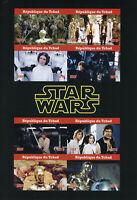 Chad 2019 MNH Star Wars Han Solo Princess Leia Luke Skywalker 8v IMPF M/S Stamps