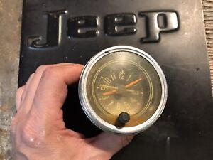 Vintage AMC Jeep CJ5 CJ6 CJ7 CJ8 Dash Clock For Repair Restore Fair Condition