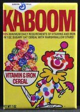 "Kaboom Cereal Box 2"" X 3"" Fridge / Locker Magnet. Clown"