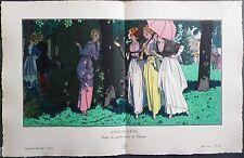 Pierre BRISSAUD Pochoir Art Déco ORIGINAL planche double 1914 GAZETTE BON TON #2