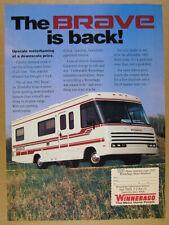 1992 Winnebago BRAVE Motorhome RV color photo vintage print Ad