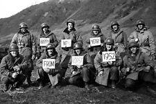 New 5x7 Korean War Photo: Happy New Year from U.S. Infantry Regiments, Kumsong