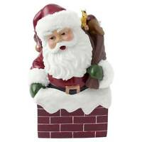 Hallmark Christmas Musical Santa in Chimney Figurine Music Box New
