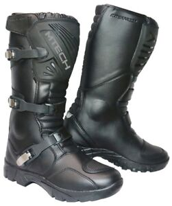 MTECH Adventure Motorcycle Boots Water Proof A Grade Leather Long Boots Black