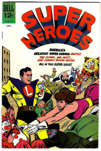 SUPERHEROES #2 in VF/NM- condition a 1967 DELL Silver Age comic