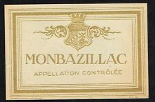 1930s France Monbazillac Wine Label Appellation d'origine contrôlée