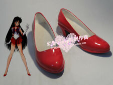 Sailor Moon Hino Rei Red Halloween Cosplay Shoes Boots H016