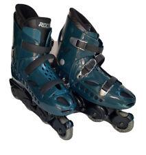 VTG 90s ROCES BCN Barcelona Inline Skates Mens Size 11 Italy Green No Brake GUC