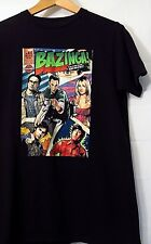 "THE BIG BANG THEORY MENS TEE BLACK MEDIUM T-SHIRT 18""PIT 27""LONG M"