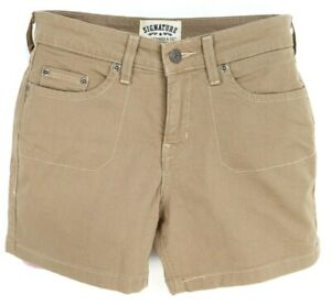 Signature by Levi Strauss & Co. Shorts Womens Size 6 Brown Cotton Mid Rise Chino