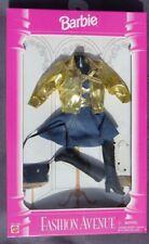 Barbie FASHION AVENUE tenue accessoire 1995 Mattel 14980 robe jean veste dorée
