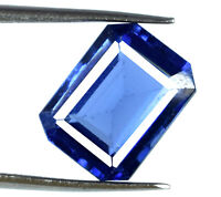 Octagon 7-8 Ct/12mm Blue Tanzanite Gemstone VS Clarity Natural AGSL Certified