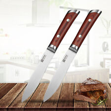 Ding 2pcs Kitchen Steak Knives Set Stainless Steel 5.5 inch Table Meat Knife Cut