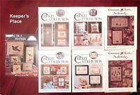 Lot 7 Counted Cross Stitch Leaflets Cricket Collection Cinnamon Heart Homespun