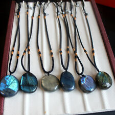 1/ 3PCS  Women Mens Natural Stone Necklace Labradorite Pendant Crystal Moonstone