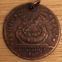 *4/2/20 UPDATE* !READ ITEM DESCRIPTION! 1787 Fugio Cent Copy Stamp on Reverse