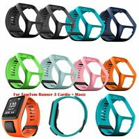 Replacement Watchband Silicone Strap Wristband For TomTom Runner 3 Cardio +Music