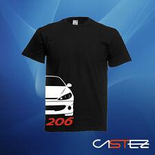 Camiseta coche racing rally gti basado peugeot 206 xs 1.6 16v rc ENVIO 24/48h