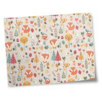 "8x10"" Prints(No frames) - Forest Fox Pattern Trees Birds Love Heart  #45058"