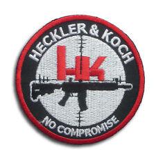 HK Heckler & Koch No Compromise Patch Iron on Biker Gun Shooter Army Sticker Sew