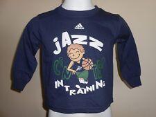 "NEW Utah Jazz ""Center in Training"" Toddlers 3T Adidas Long Sleeved Shirt"