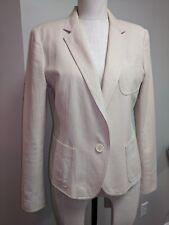 DKNY Donna Karan 12 jacket blazer L Neiman Marcus Nordstrom pink beige 10 shine