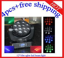 4pcs 12*10W RGBW Led Beam Moving Head Light Stage Club/Disco Light Free Shipping