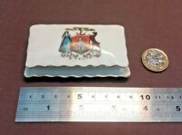 VINTAGE  CRESTED CHINA-HAIR PIN DISH EARLY 20TH CENTURY MAKER UNKNOWN